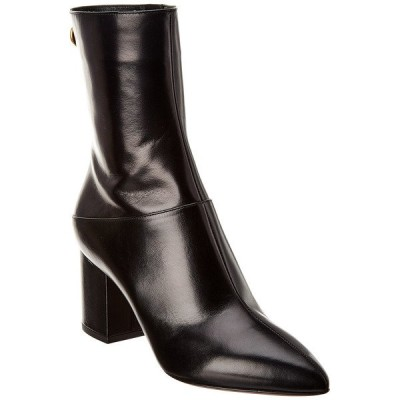 ヴァレンティノ ブーツ&レインブーツ シューズ レディース Valentino Ringstud 70 Leather Bootie black leather