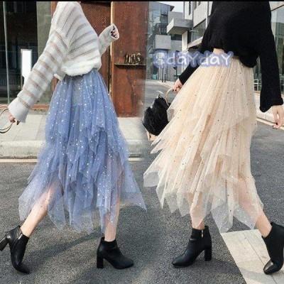プリーツスカート  フレア スカート マキシスカート スカート マキシ ロングスカート ウエストゴム ふんわり 春秋新作 ロングスカート ロングスカート可愛い