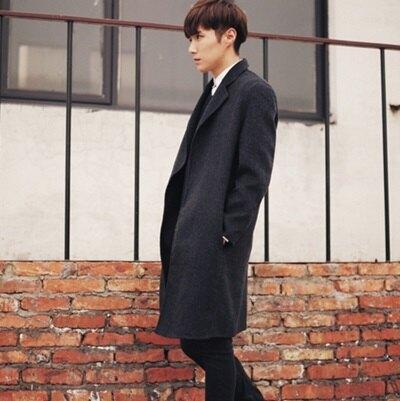 西裝外套 長版大衣-韓版時尚帥氣寬鬆翻領男外套2色72p1【獨家進口】【米蘭精品】