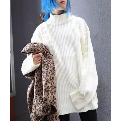 ニット 【ビッグシルエット】SML OVERSIZED SWEATER/オーバーサイズニットセーター