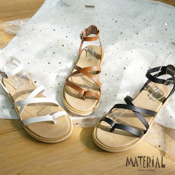 涼鞋 夾腳繞踝寬版涼鞋 MA女鞋 T0337