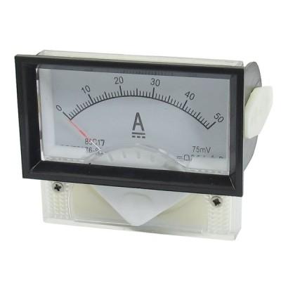 uxcell アナログ電流計 DC 0-50A 7x4x1.5cm ホワイト 85C17