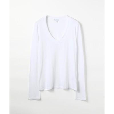 【JAMES PERSE】ベーシック Vネック長袖Tシャツ WMJ3931