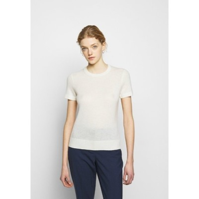 セオリー Tシャツ レディース トップス BASIC TEE FEATHER - Basic T-shirt - ivory