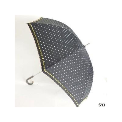 晴雨兼用中棒スライドショート傘 T C 2段ピコ星柄プリント傘