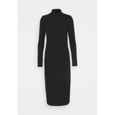 ノイジーメイ レディース ワンピース トップス NMCRISTINA CALF HIGH NECK DRESS - Jumper dress - black melange black melange