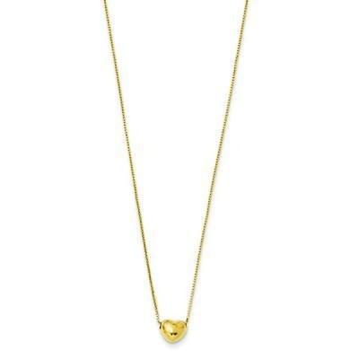 Versil 海外直輸入ブランドアクセサリー 14k イエロー ゴールド スモール ハート チャーム Necklace