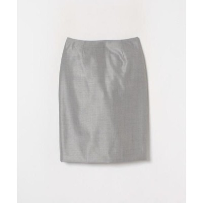 LANVIN COLLECTION / ランバン コレクション シルクウールシャークスキンスカート