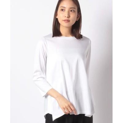 Leilian PLUS HOUSE/レリアンプラスハウス フレアシルエットTシャツ オフホワイト1 17+