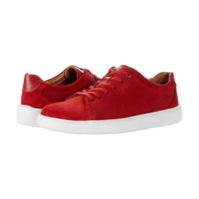 Clarks クラークス メンズ 男性用 シューズ 靴 スニーカー 運動靴 Cambro Low - Red Suede