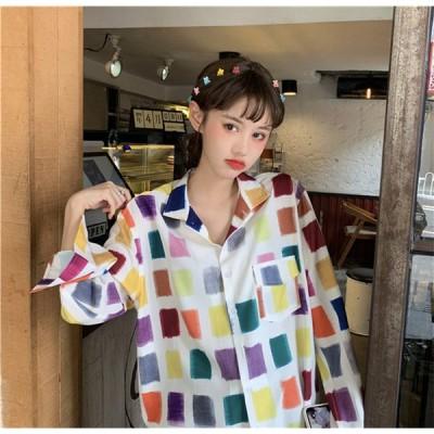 韓国ファッション  レデイース ゆったり カジュアル 正方形 日焼け止め ファッション 百掛け エレガント