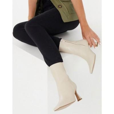 アンドアザーストーリーズ & Other Stories レディース ブーツ シューズ・靴 Leather Heeled Boots ベージュ