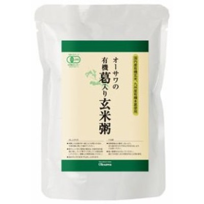 オーサワの有機葛入り玄米粥 200g×10個               JANコード:4932828061498 オーサワジャパン株式会社