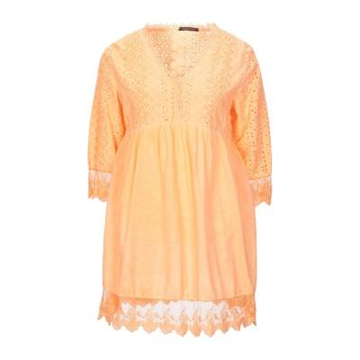 GIORGIA  & JOHNS ミニワンピース&ドレス オレンジ S/M コットン 100% / レーヨン ミニワンピース&ドレス