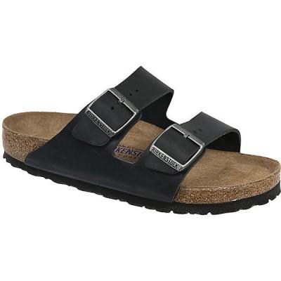 ビルケンシュトック サンダル レディース シューズ Birkenstock Arizona Soft Footbed Sandal Black Oiled Leather