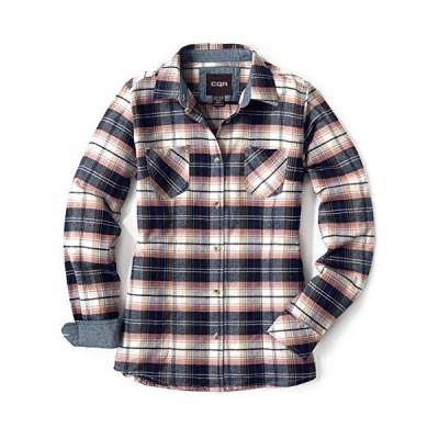 CQR レディース ネルシャツ カジュアル 長袖 シャツ チェックシャツ アウトドア 登山 ゴルフウェア アメカジ WOF002-MPK_S