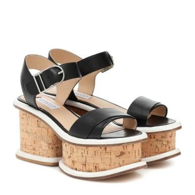 ガブリエラ ハースト Gabriela Hearst レディース サンダル・ミュール シューズ・靴 Harrigan leather and cork sandals Black