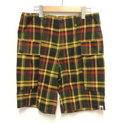 A BATHING APE アベイシングエイプ ショートパンツ パンツ Pants, Trousers Short Pants, Shorts チェック ショート パンツ ショーツ 10005632