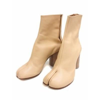 【中古】未使用品 メゾンマルジェラ Maison Margiela 22 足袋 ブーツ ショート 39.5 ベージュ TABI タビ シューズ 靴