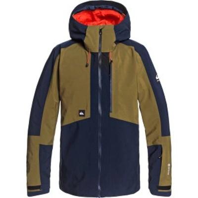 クイックシルバー メンズ ジャケット・ブルゾン アウター Quiksilver Men's Forever 2L GORE-TEX Snow Jacket Military Olive