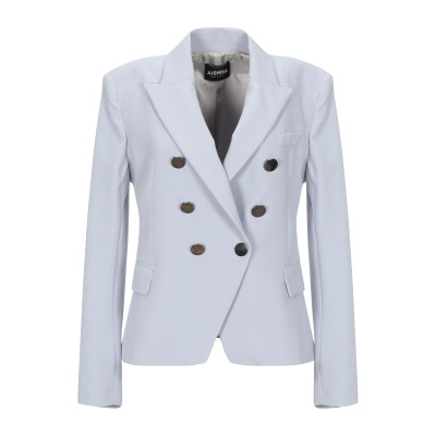 AISHHA テーラードジャケット グレー 38 ポリエステル 89% / ポリウレタン 11% テーラードジャケット