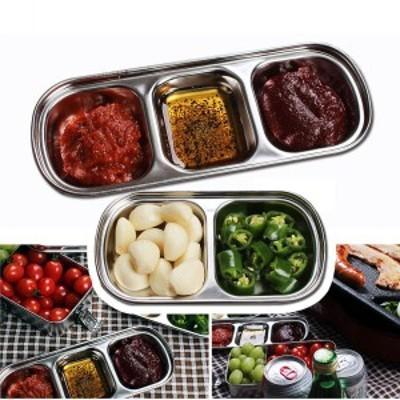 バーベキューディッシュ BBQ 取り分け皿 トレー ステンレス バーベキュー道具 調理器具 ピクニック 食器 漬物盛り合わせ 軽量