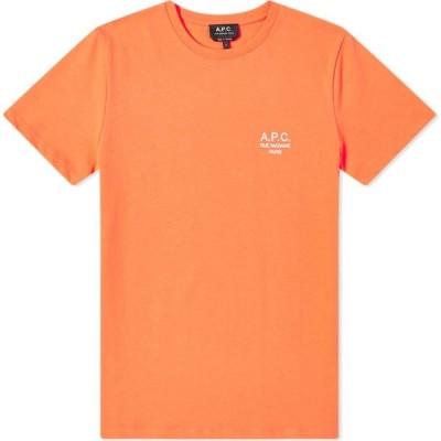 アーペーセー A.P.C. メンズ Tシャツ ロゴTシャツ トップス raymond embroidered logo tee Coral
