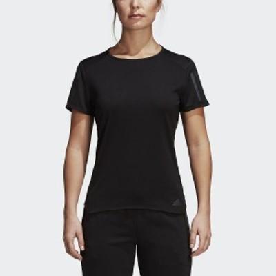 アディダス ランニング レディース半袖Tシャツ RESPONSE半袖TシャツW ECB18 CF2148 レディース ブラック