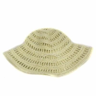 【中古】La Maison de Lyllis ラメゾンドリリス 帽子 ハット メッシュ リボン アイボリー /SR レディース