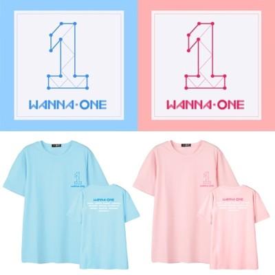 869大人気!wanna one週辺 応援服 スター 同じデザイン半袖Tシャツ  ペアルック トップス トップス 韓国  男女兼用  韓国ファッション tシャツ