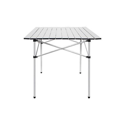 Deanurs Folding Tables Camping Roll Up Aluminum Portable Square Table for O