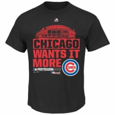 Majestic マジェスティック スポーツ用品  Majestic Chicago Cubs Youth Black 2015 Division Series We Want it More T-S