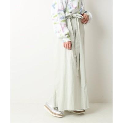 スカート JW コットン麻visラップマキシスカート