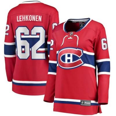 ファナティクス シャツ トップス レディース Artturi Lehkonen Montreal Canadiens Fanatics Branded Women's Home Breakaway Player Jersey Red