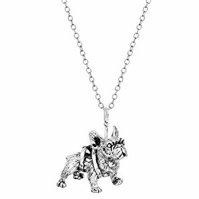 FL BEAUTY Sterling Silver Plated White Pug Dog Charm Animal Pendant Necklace