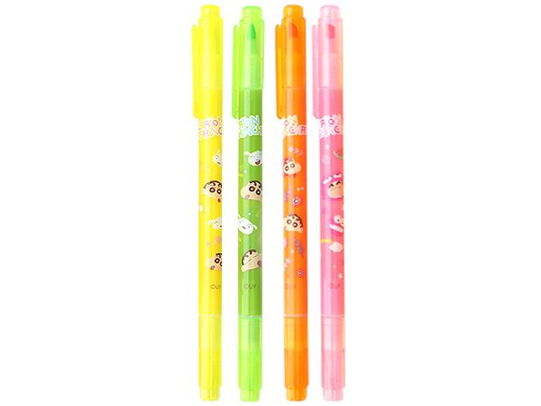 蠟筆小新~雙頭螢光筆(1支入) 款式可選【D011171】