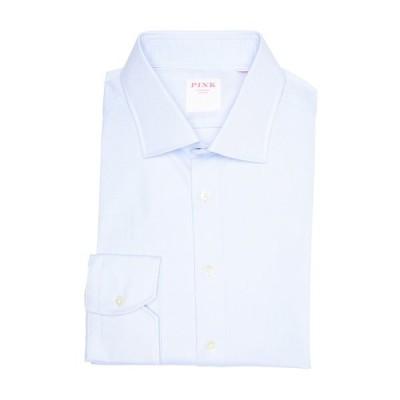 トーマスピンク メンズ シャツ トップス Royal Oxford Long Sleeve Slim Fit Shirt PALE BLUE