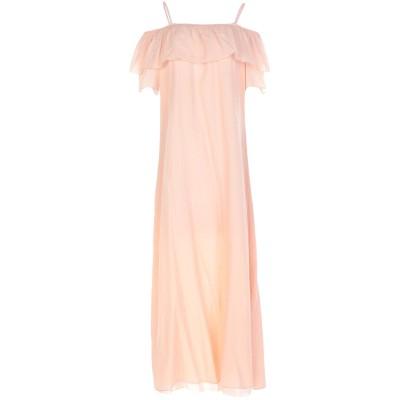 EUROPEAN CULTURE ロングワンピース&ドレス あんず色 M 100% コットン ロングワンピース&ドレス