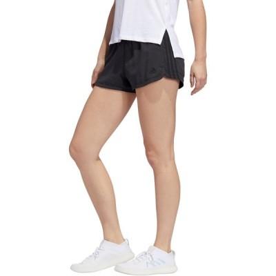 アディダス カジュアルパンツ ボトムス レディース adidas Women's Pacer 3-Stripes Woven Shorts Black