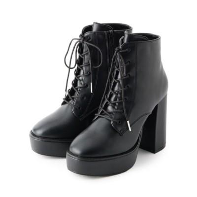 ESPERANZA / ハイヒールプラットフォームレースアップショートブーツ WOMEN シューズ > ブーツ