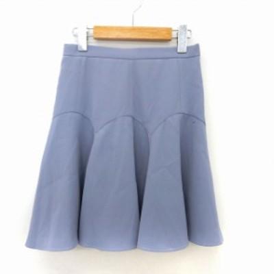 【中古】アプワイザーリッシェ Apuweiser-riche スカート フレア 膝丈 シンプル サイドジップ 1 ブルー /ST18
