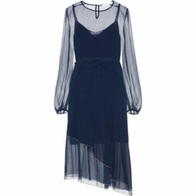 クロエ See By Chloe レディース ワンピース ミドル丈 ワンピース・ドレス Chiffon midi dress Obscure Blue