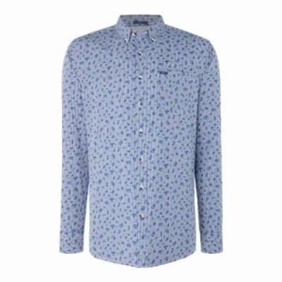 ペペジーンズ シャツ Greenberg Pepe Long Sleeve Shirt blue