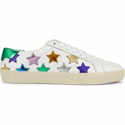 イヴ サンローラン Saint Laurent レディース スニーカー シューズ・靴 Court Classic California Sneakers Blanc Optique/Multicolor