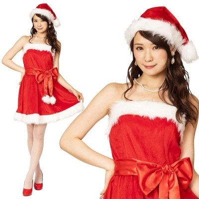 クリスマス コスプレ サンタ D-XM16 パーティーサンタ レッド Ladies サンタコス パーティー 女性用 コスチューム 衣装 仮装 店舗 宴会 イベント 販促 大人用