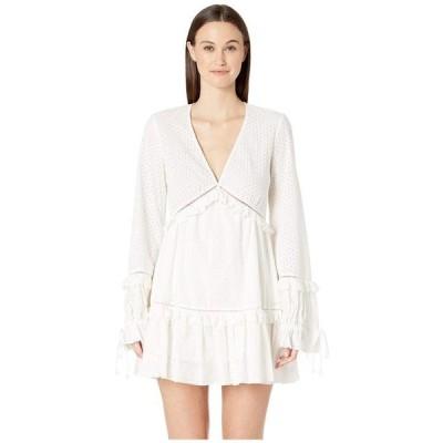 ジョナサンシムカイ レディース ワンピース トップス Embroidered Ruffle Long Sleeve Dress
