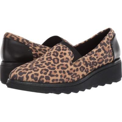 クラークス Clarks レディース ローファー・オックスフォード シューズ・靴 Sharon Dolly Tan Leopard Suede