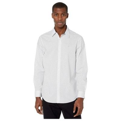 カルバンクライン Calvin Klein メンズ シャツ トップス Long Sleeve Poplin Wrinkle Resistant Casual Button-Up Shirt Brilliant White