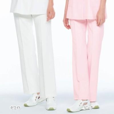 CF4803 ナガイレーベン Naway ClairRobe 女性用パンツ(白衣 医療用白衣 看護師用 ナース 白 ホワイト ピンク ブルー ナース