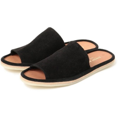 (BEAMS OUTLET/ビームス アウトレット)SINGH AND SON / Lounge Slides/メンズ BLACK